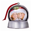 Christmas Photo Snow Globe Ornament