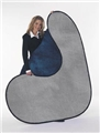 Collapsible 2-in-1 6x7 Smokey Gray/Midnight Blue Photo Backdrops