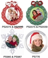 Christmas Plastic Photo Ornaments
