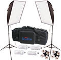 Photo Video 280 Watt Continuous Light Softbox Kit