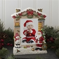 Santa Snowman Light-Up Frame