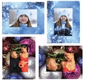 Christmas Photo Easel Frames