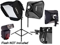 Portable Flash Soft Box Photo Kit