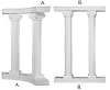 Quarter Colonnade 8ft Top or Base Photo Prop