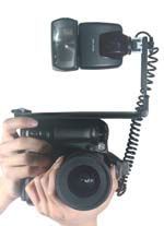 Stealth Digital Camera Flash Bracket