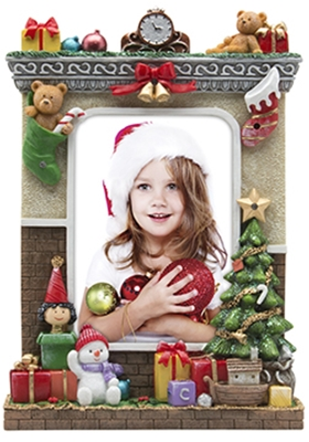 Christmas Hearth 5x7 Picture Frame