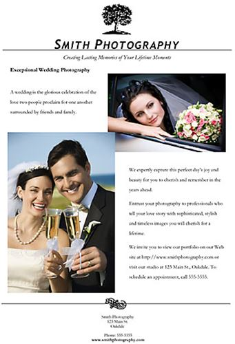 FREE Wedding Ad Template - Photography ad template