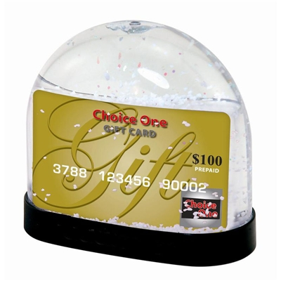 Gift Card Picture Snow Globe