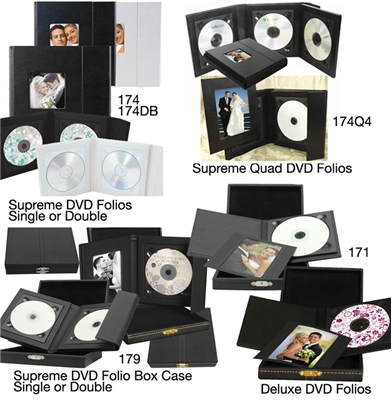 CD DVD Presentation Folios