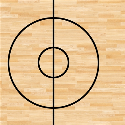 Basketball Court Photo Floor