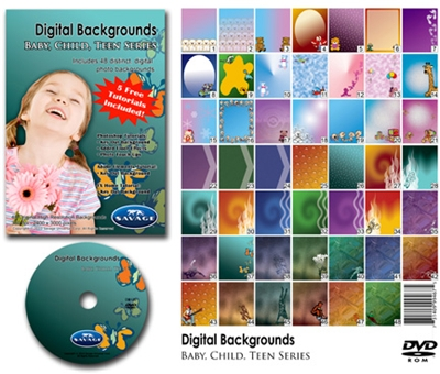 Digital Photo Template Baby, Child, Teens