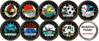 Sports Mylar and Medallion Holders