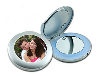 Photo Mirror Makeup Compact