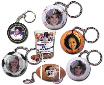 Photo Sport Ball Keychains