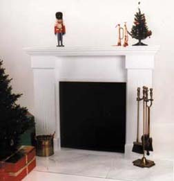 White Fireplace Photo Prop