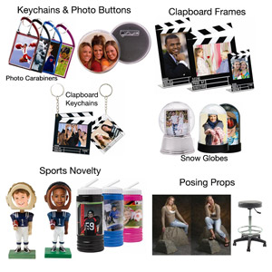Photo Novelty • Keychains • Props